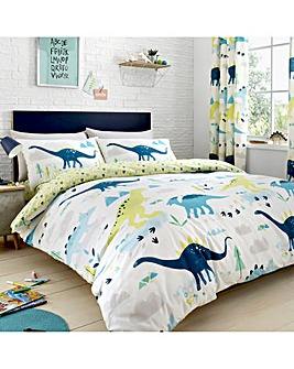 Bedlam Dino Glow In The Dark Reversible Duvet Set