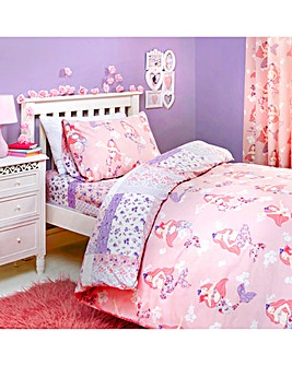 Bedlam Mermaid Patchwork Reversible Duvet Set