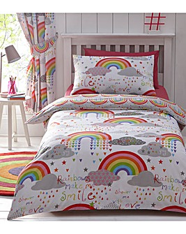 Clouds & Rainbows Reversible Duvet Set