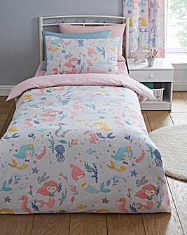 Mermaids Reversible Duvet Set