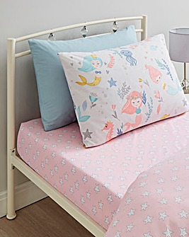 Mermaids Pack of 2 Fitted Sheets