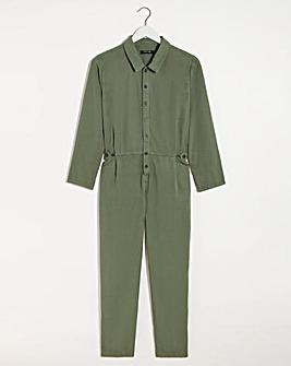 Washed Khaki Tencel Relaxed Jumpsuit