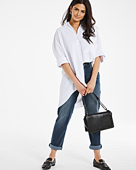 24/7 Organic Indigo Boyfriend Jeans