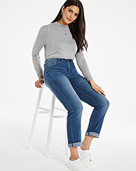 24/7 Organic Blue Straight Leg Jeans