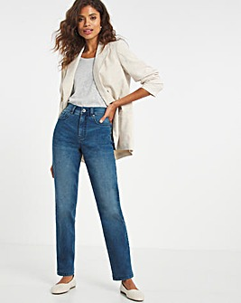 24/7 Vintage Blue Straight Leg Jeans made with Organic Cotton