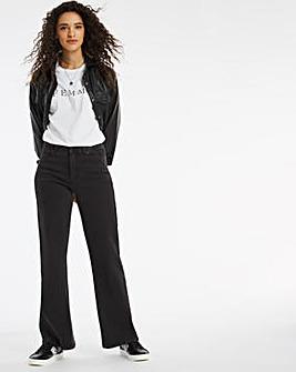 24/7 Organic Washed Black Wide Leg Jeans