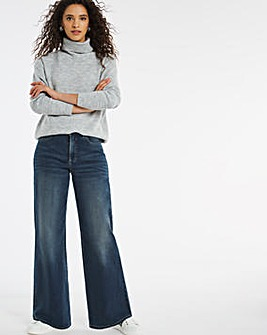 24/7 Vintage Indigo Wide Leg Jeans made with Organic Cotton