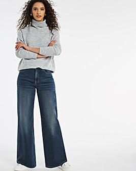 24/7 Organic Indigo Wide Leg Jeans