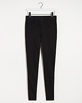 Amber Black Pull On Skinny Jeggings