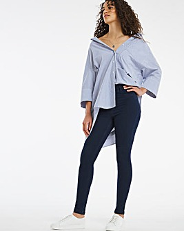 Amber Dark Indigo Pull On Skinny Jeggings