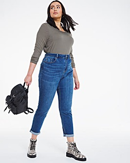Demi Vintage Blue High Waist Mom Jeans