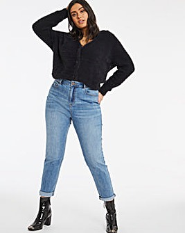 Demi Light Stonewash High Waist Mom Jeans