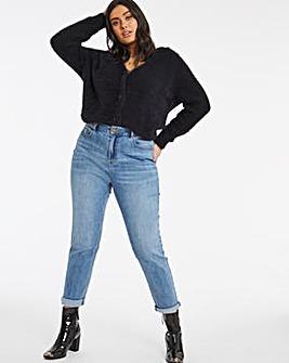 Demi Light Stonewash High Waist Mom Jeans