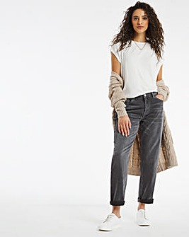 Riley Grey Wash Slouch Boyfriend Jeans