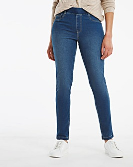 Bella Mid Blue Pull On Slim Leg Jeggings