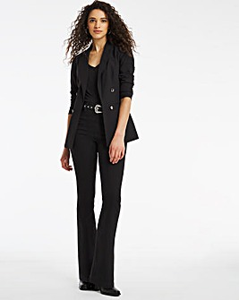 Erin Black Pull On Bootcut Jeggings