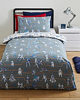Star Wars Vintage Cotton Reversible Duvet Set