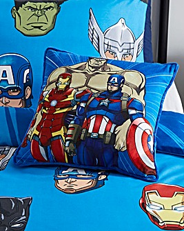 Marvel Avengers Team Faces Reversible Cushion