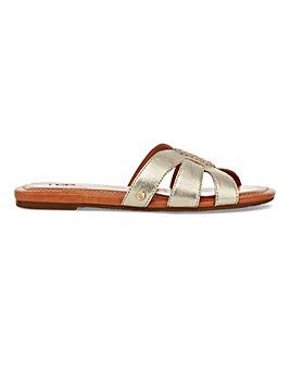 Ugg Teague Leather Slider Sandals Standard D Fit