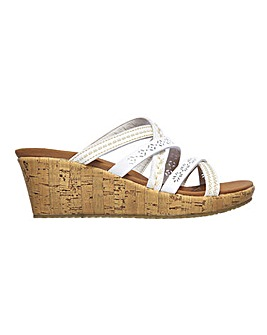 Skechers Beverlee Tiger Posse Wedge Sandals Standard D Fit
