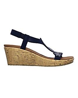 Skechers Beverlee Date Glam Wedge Sandals Standard D Fit