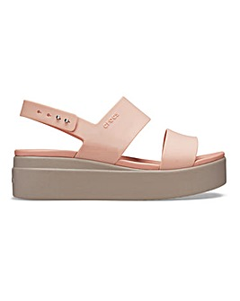 Crocs Brooklyn Low Wedge Sandals Standard D Fit
