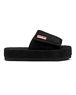Hunter Terry Towelling Beach Slider Sandals Standard D Fit