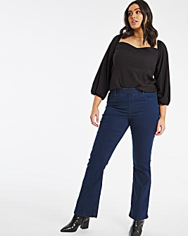 Erin Dark Indigo Pull On Bootcut Jeggings