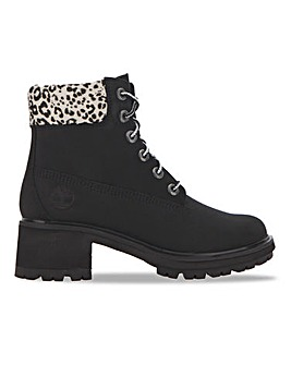 Timberland Kinsley Lace Up Block Heeled Ankle Boots Standard D Fit