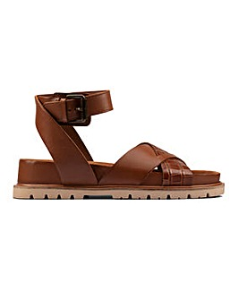 Clarks Orianna Cross Leather Sandals Standard D Fit