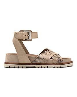 Clarks Orianna Cross Leather Sandals Standard D Fit