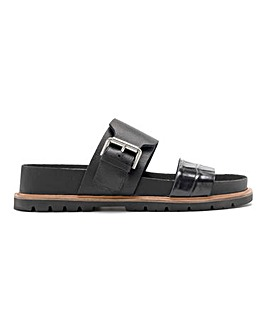 Clarks Orianna Sun Leather Mule Sandals Standard D Fit