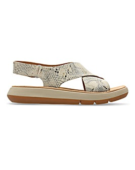 Clarks Jemsa Cross Leather Sandals Standard D Fit