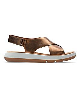Clarks Jemsa Cross Leather Sandals Standard D Fit