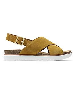 Clarks Elayne Cross Leather Sandals Standard D Fit