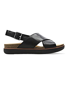 Clarks Elayne Cross Leather Sandals Standard D Fit