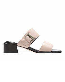 ClarksLandra Leather Mule Sandals Standard D Fit