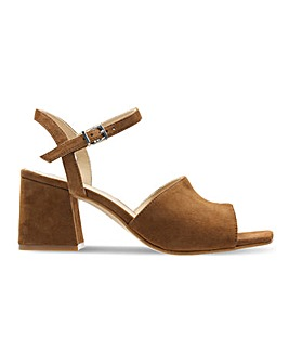 Clarks Sheer65 Suede Block Heel Sandals D Fit