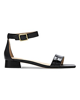 Clarks Sheer Strap Leather Sandals D Fit