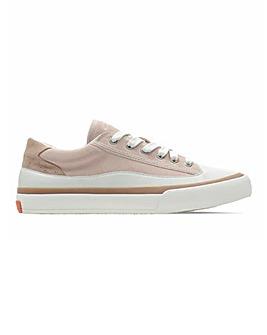 Clarks Aceley Canvas Lace Up Leisure Shoes D Fit