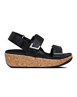 Fitflop Remi Leather Adjustable Back Strap Sandals Standard D Fit