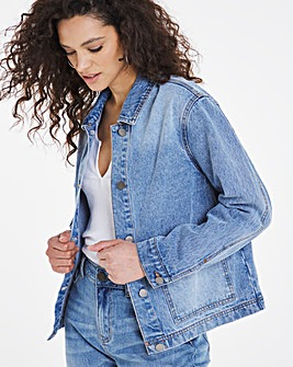 Light Blue Patch Pocket Denim Jacket