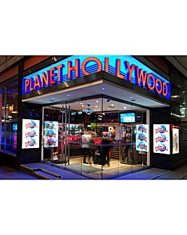 Planet Hollywood 3 Course Meal with Wine