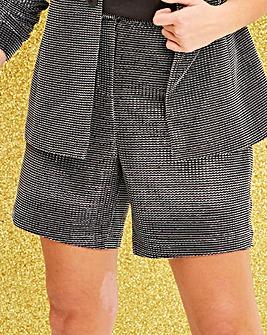 Glitter Tailored Shorts