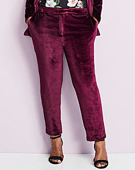 Velour Soft Tapered Trouser
