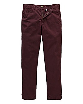 Jacamo Wine Basic Chino 33In Leg Length