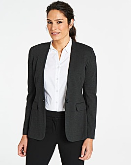 Collarless Ponte Blazer