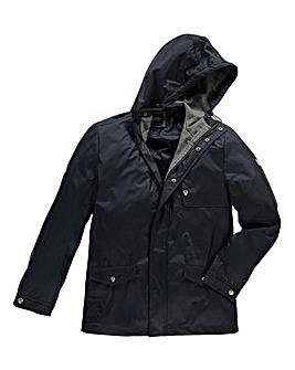 Le Breve Office Navy Hooded Jacket