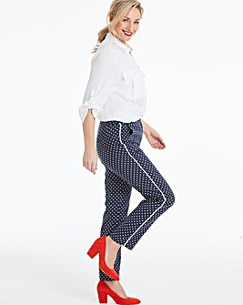 Polka Dot Side Stripe Ankle Grazer