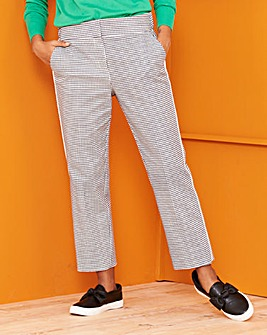 Gingham Side Stripe Ankle Grazer